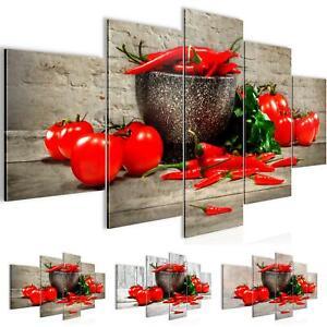 Details zu Bild Bilder Wandbild XXL Küche Gemüse - Kunstdruck Leinwand aus  Vlies - Wanddeko