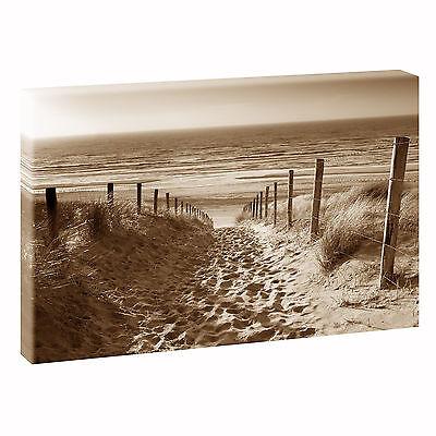 Strand Bild Wandbild Meer Keilrahmen auf Leinwand  Poster XXL 120 cm*80 cm 544