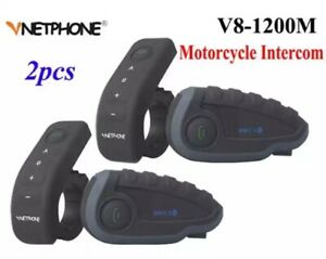 2pcs-Motorcycle-Helmets-Intercom-NFC-Remote-Control-Bluetooth-Interphone-Headset
