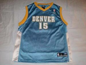 timeless design 0a678 d0934 Details about Carmelo Anthony 15 Denver Nuggets NBA Blue Reebok Jersey  Boy's Large 14-16 used