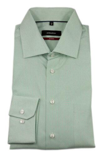 Seidensticker caballero camisa manga larga Modern Kent verde blanco Print estructura 114960.74