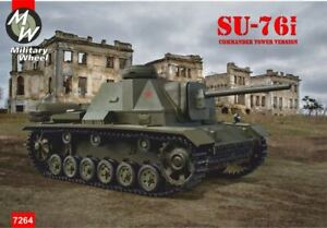 Military Wheels 7264-1//72 Russian Su-76i Commander Tower Version Model Kit