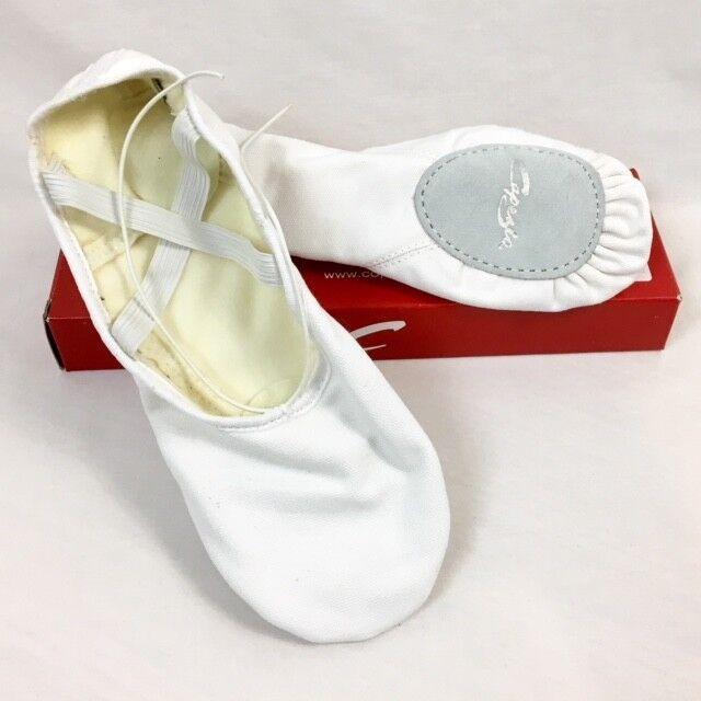 07ee8c7fc52 Capezio 2021a ROMEO White Canvas Ballet Shoes Mens Size 12w for sale online