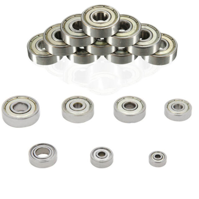 10Pcs 626ZZ Mini Metal Double Shielded Flanged Ball Bearing For 3D Printer Parts