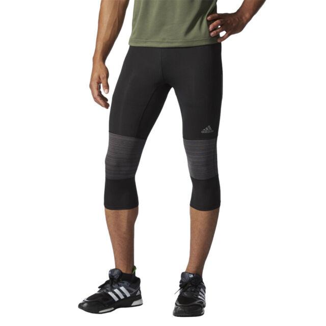 18dadbef2 Men s Running Trousers adidas Supernova 3 4 Tight Black Running ClimaCool