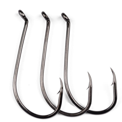 Lot 50pcs Octopus Fishing Hook High carbon steel Saltwater Bass hooks 1#-8//0#