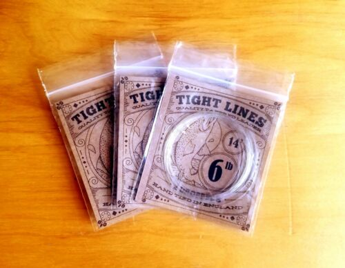 Fluorocarbon Tippet Hand Tied Fly Fishing Leaders x3-2 Droppers 14ft 6lb