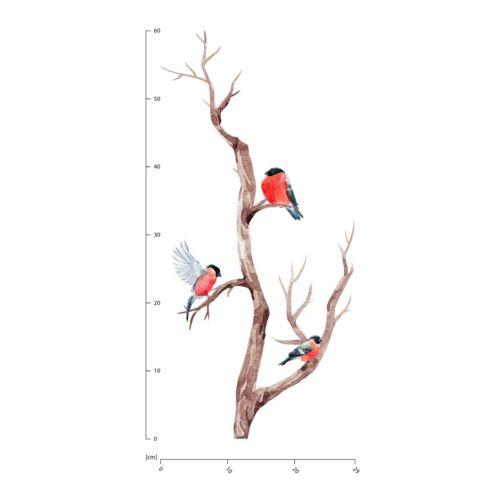 Robin Bird Branch Wall Sticker Set WS-50886