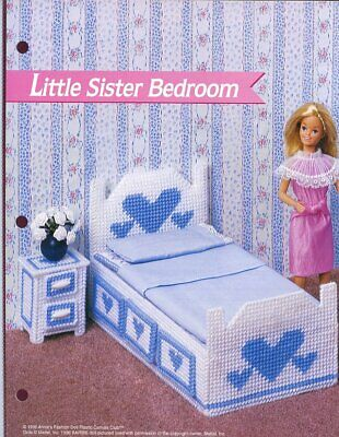 Three-Piece Sectional Sofa Barbie Doll Plastic Canvas PATTERN//INSTRUCTIONS//NEW