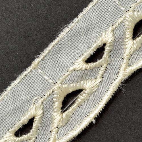 SP-2033 Joyce Trim Vintage Cotton Eyelet Lace Trim 1 Inch by 3-Yards