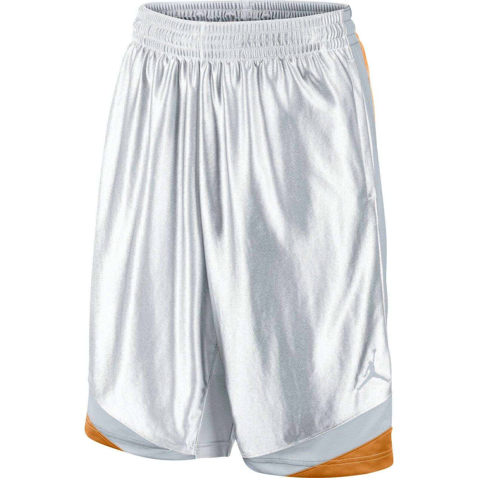 Jordan Court Vision Men's Basketball Shorts White Kumquat Wolf Grey 576638-105