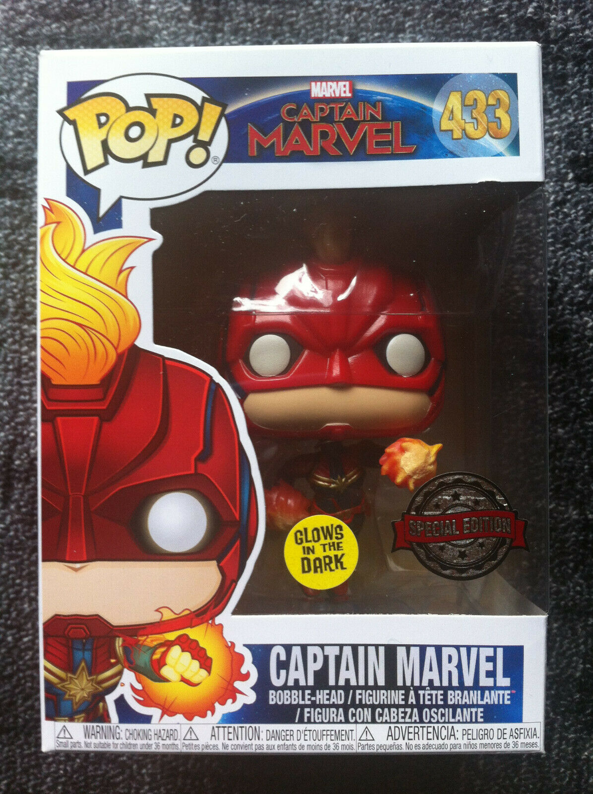 POP   il Capitano MARVEL-No.433 - specialeee edizione-Brilla al buio-Bobble-Head  prezzo basso