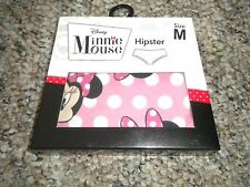 Disney Minnie Mouse design pink cottony hipster panty NWT 6 Medium