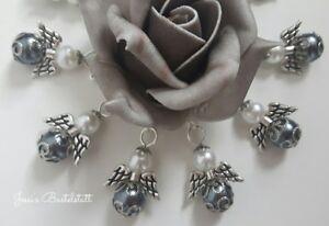 10-Schutzengel-in-antracit-mit-Perlenkappen-Gastgeschenk-Hochzeit-Taufe