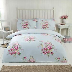 Maisie Roses Fleurs Couette Taille King Ensemble Couverture Ebay