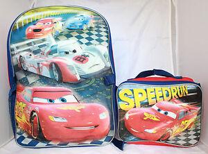 669e7309daa4 Image is loading Disney-Cars-Lightning-McQueen-Boys-School-Backpack-Lunch-
