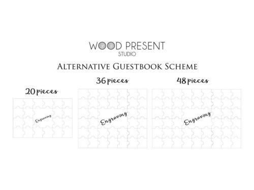 Rustic Wedding Guest Book Alternative Custom Guestbook Sign Canvas Jigsaw Puzzle