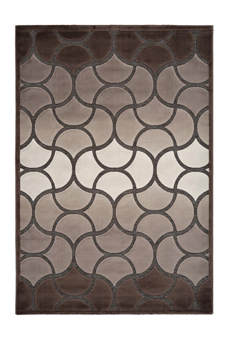 Moderner Teppich Klassisch Klassisch Klassisch Glanz Lurex 3D Design Beige Braun Creme 80x150cm 70bd7d