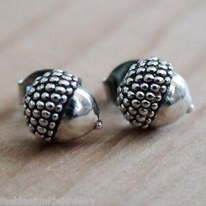 Acorn-Earrings-925-Sterling-Silver-Nut-Squirrel-Oak-Tree-Woodland-Gift-NEW