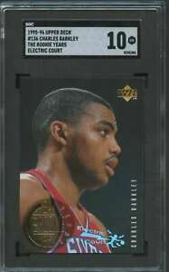 1995-UPPER-DECK-THE-ROOKIE-YEARS-ELECTRIC-COURT-CHARLES-BARKLEY-SGC-10