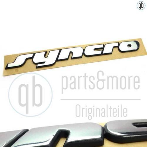 Originales de VW en letras emblema Syncro furgoneta VW t4 portón trasero cromo autoadhesivo