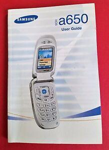 samsung sch a650 user guide manual original ebay rh ebay com Samsung Glyde Samsung U740
