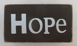 Details About P Hope Word Blocks Wood Home Decor Distressed Block Shelf Sitter Ganz