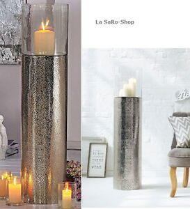boden windlicht silber 108cm xxl alu kerzenhalter standkerze windlichtgef top ebay. Black Bedroom Furniture Sets. Home Design Ideas