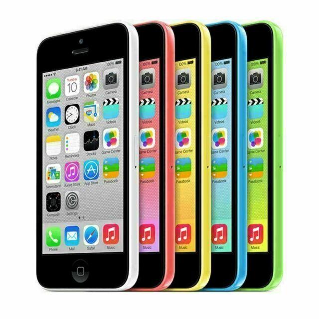 "Original Unlocked Apple iPhone 5C 8GB/16GB/32GB Blue/White/Yellow/Pink/Green 4"""
