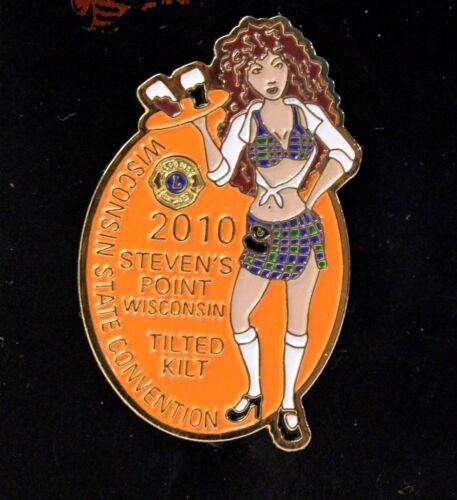 TILTED KILT Waitress Girl Lapel Pin Lions Club Steven/'s Point Winsconsin