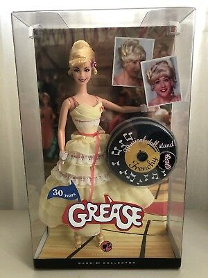 Barbie Collector Doll Grease Movie Frenchy MIB 30 Years M3256 Mattel Pink Label!
