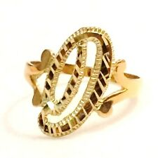 """10K Yellow Gold Cursive Letter Initial """"D"""" Ring Size 7 / 1.71g"""