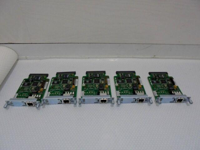 Joblots X 5 Cisco VWIC 2-1MFT-T1/E1 Multiflex VOICE/WAN Interface Card