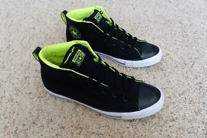 black and lime green converse off 59