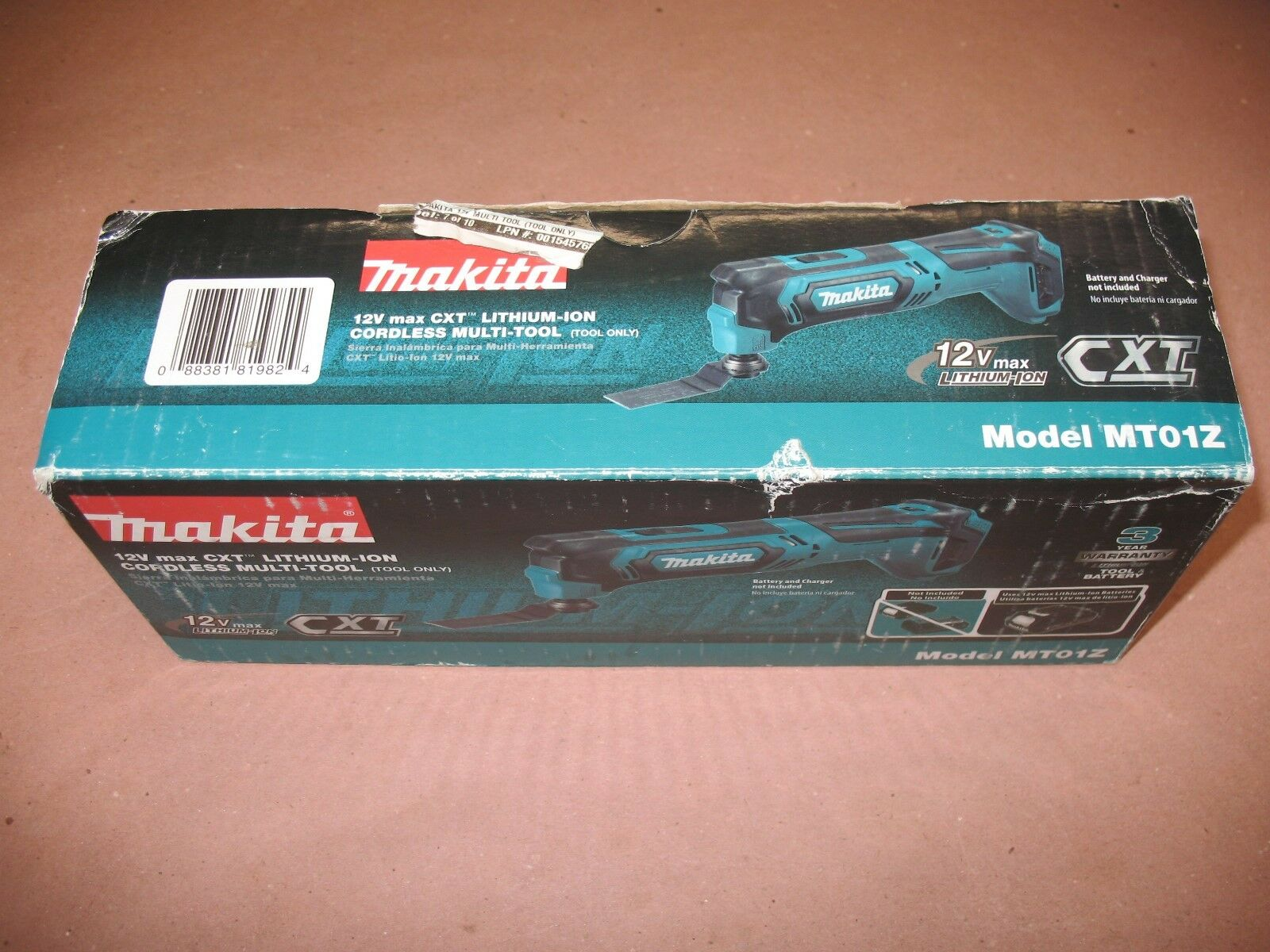 Makita MT01Z 12V 12 VOLT Max CXT Li-Ion Cordless Multi-Tool Bare Tool Tool ONLY