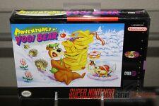 Adventures of Yogi Bear (Super Nintendo, SNES 1994) H-SEAM SEALED! - ULTRA RARE!