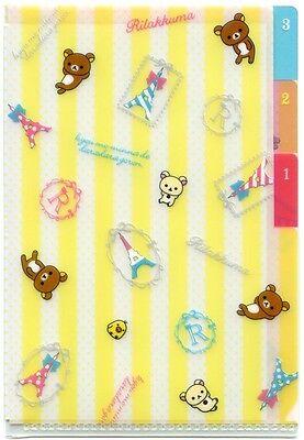 San-X Rilakkuma Relax Bear Index 3 Pockets A6 Mini Plastic File Folder #19