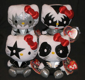 TY LIMITED EDITION HELLO KITTY KISS BEANIE BABY SET of 4 - MINT with ... 6f28ec699a97