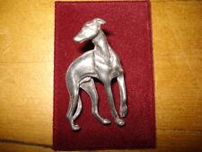 Greyhound/Galgo 3d effect Pewter Brooch - Please help The Blue Greyhound!