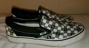 Men Vans Slip On Checkered Shoes Size