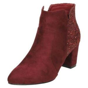 Anne-Michelle-Ladies-Ankle-Boots-F5R0690-Burgundy-R27B