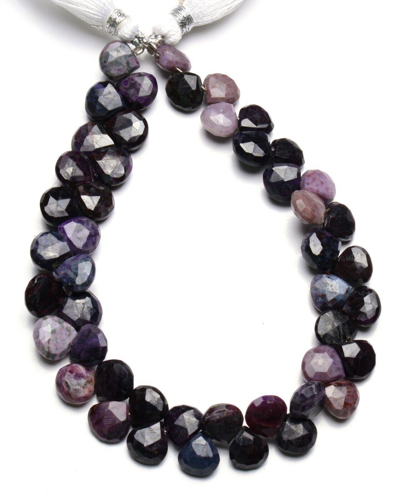 Natural RARE GEM Sugilite 8 mm TAILLE à FACETTES Coeur Forme Perles 8