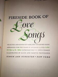 THE-FIRESIDE-BOOK-OF-LOVE-SONGS-HARD-COVER-BONI-LLOYD-PROVENSEN-1954