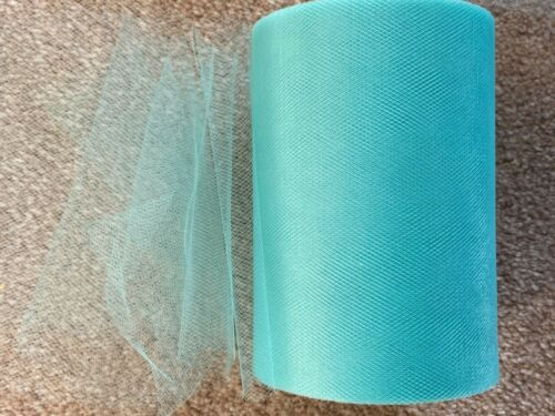 15m of 150mm Wide Soft Nylon Teal Tulle Netting Fabric Wedding//Tutu//Crafts