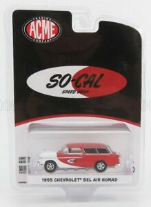 ACME-MODELS 1/64 CHEVROLET | CHEVY BEL AIR NOMAD SO-CAL 1955 | RED WHITE