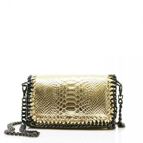 Ladies Snakeskin Leather Cross Body Bag Shoulder handbags Girls Clutches Handbag