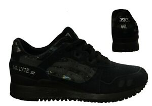 Details about Asics Gel-Lyte III Lace Up Womens Trainers Running Black  HN6K5 9090 B33B