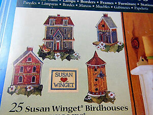 Image Is Loading Susan Winget Set Of 25 Bird Houses Wallies