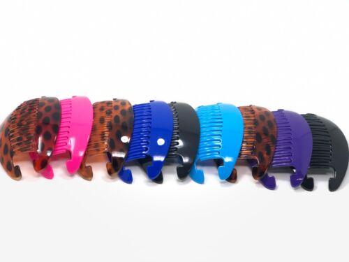 . 9sets Jumbo Banana Comb Clip Thick Hair Riser Claw Interlocking Jaw