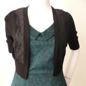 ALANNAH-HILL-NEW-rrp-169-00-Say-it-With-Flowers-Black-Cardigan-Size-8-US-4